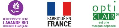 Opticlair : Fabriqué en France, Aux huiles essentielles de lavande officinale, Sans gaz, Recyclable