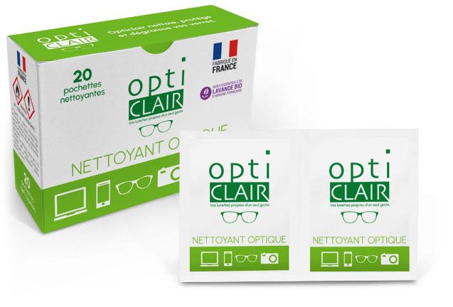 Opticlair : Les lingettes nettoyantes